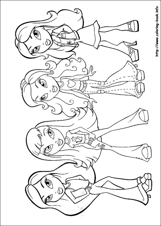 Bratz coloring pages on Coloring-Book.info