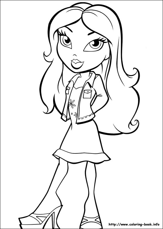 bratz and boots coloring pages - photo #50