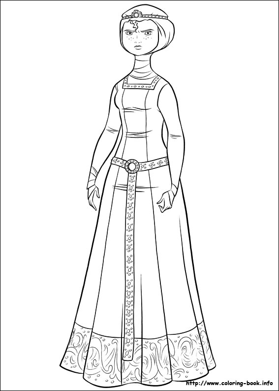 Frozen Anna Kleurplaat Brave Coloring Picture
