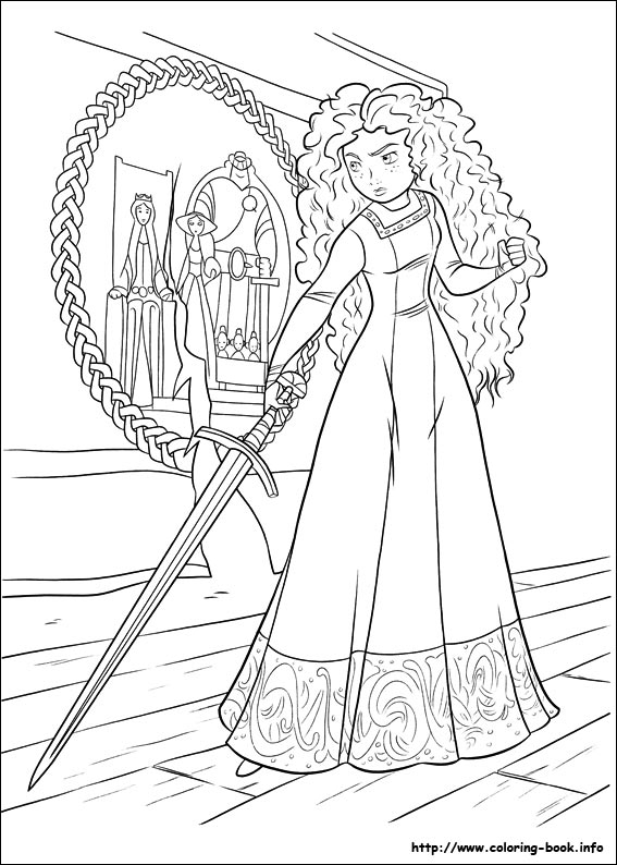 Brave coloring pages on Coloring-Book.info