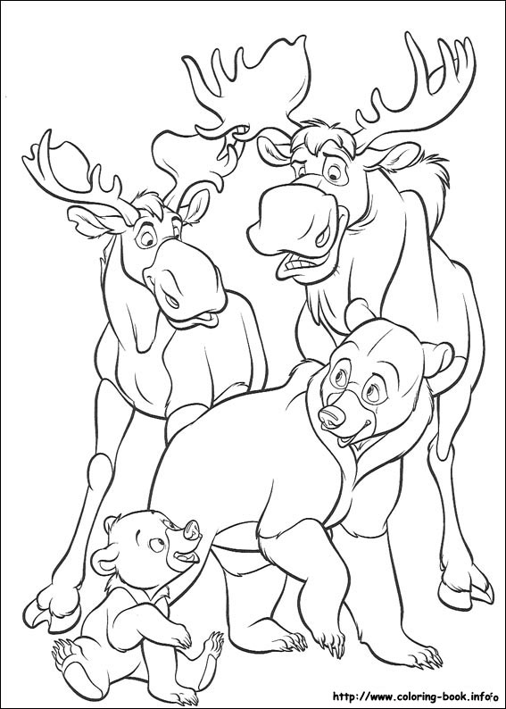 brother bear coloring picture - Brother Bear Moose Coloring Pages