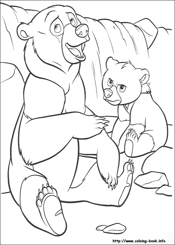 brother bear coloring pages on coloring bookinfo