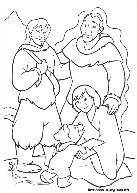 bear coloring picture - Brother Bear Moose Coloring Pages