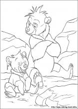 brother bear coloring pages on coloring-book.info - Brother Bear Moose Coloring Pages