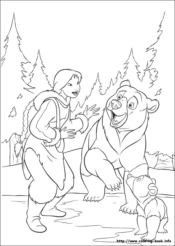 brother bear 2 coloring pages on coloring bookinfo