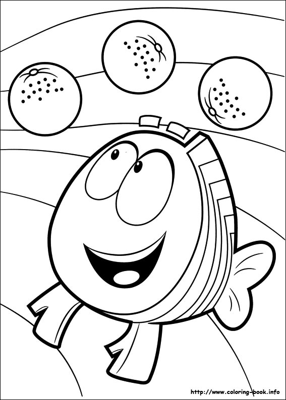 Guppies Coloring Picture Guppies Coloring Page