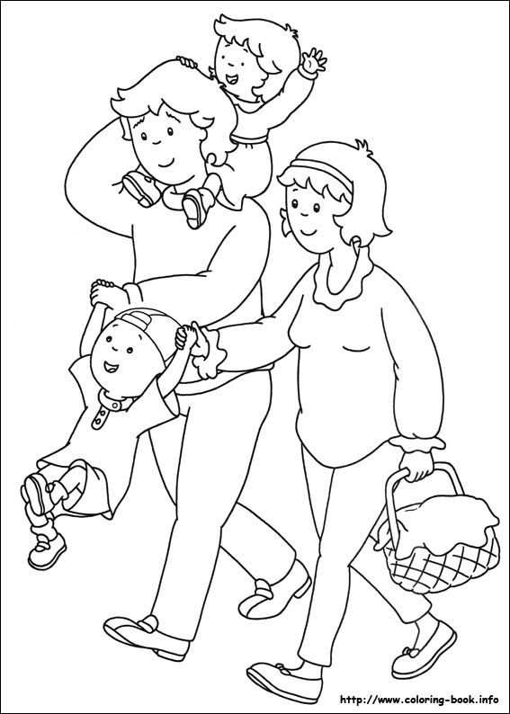 caillou coloring pages on coloring bookinfo - Caillou Gilbert Coloring Pages