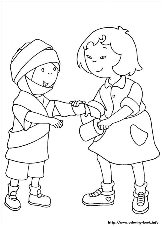 caillou coloring pages gilbert - photo#50