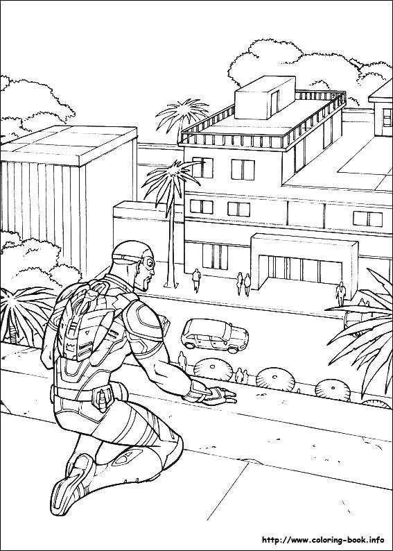 Captain America: Civil War coloring picture