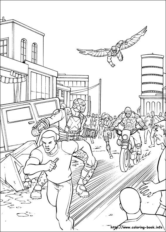 America: Civil War coloring picture