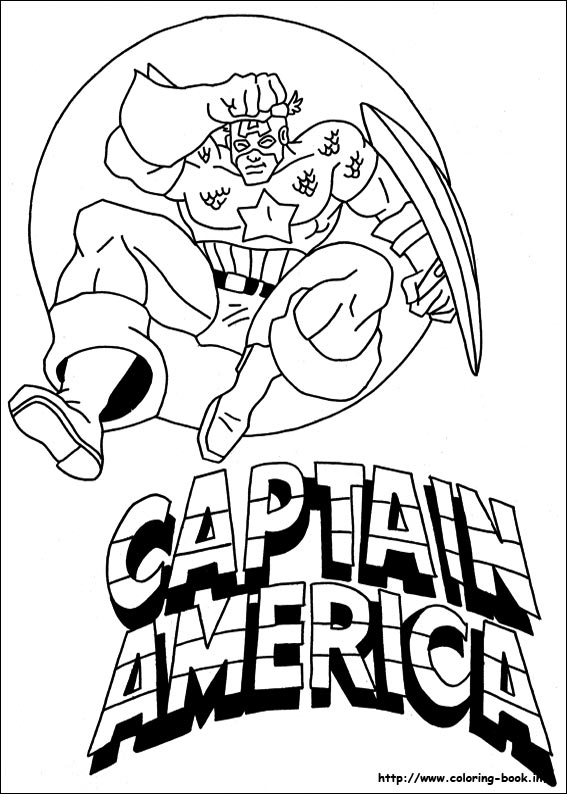 Captain America Coloring Book