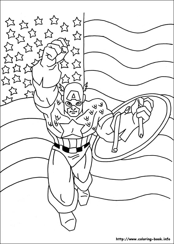 captain america coloring pages on coloringbook, printable coloring