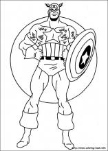 captain america coloring pages on coloring bookinfo - Captain America Pictures To Color