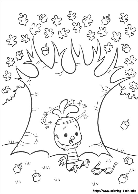 Chicken Little Coloring Pages On Book