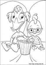 Chicken Little coloring pages on Coloring Bookinfo