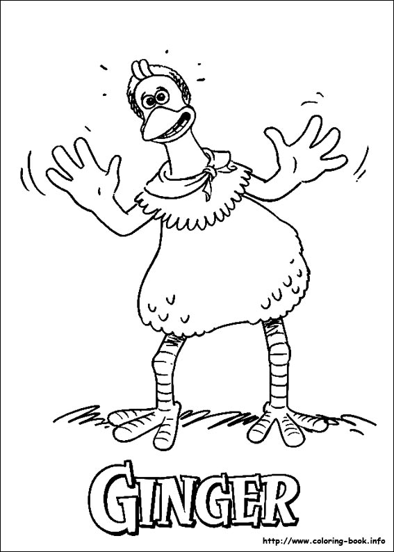 Chicken Run Coloring Picture