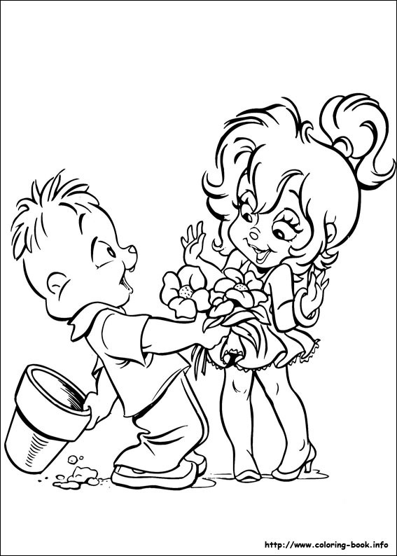 Alvin And The Chipmunks Coloring Pages On Coloring Book Info Alvin And The Chipmunks Coloring Pages