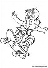 Alvin and the Chipmunks coloring pages on Coloring Bookinfo