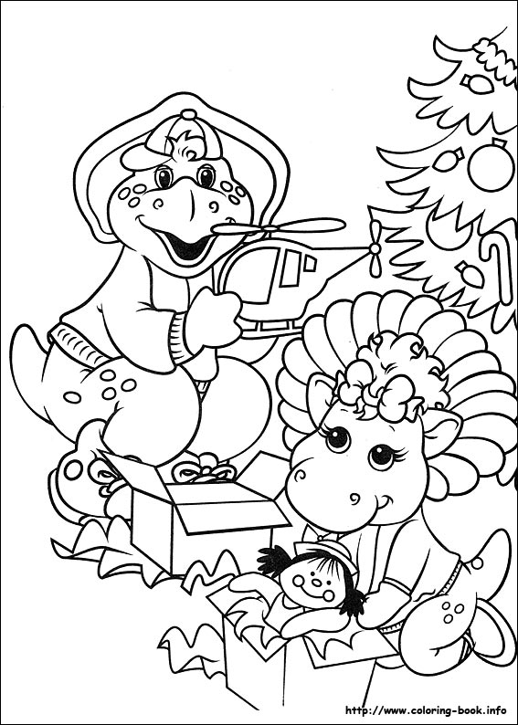 christmas friends coloring picture - Barney Friends Coloring Pages