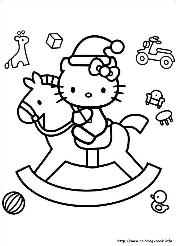 Hello Kitty Christmas Coloring Pages Disney Christmas Coloring