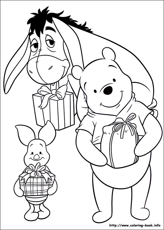 Christmas Friends Coloring Pages On Book