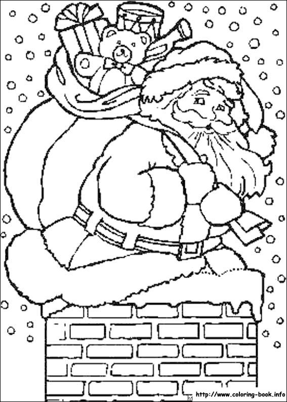 Kleurplaat Ouderwets Christmas Coloring Picture