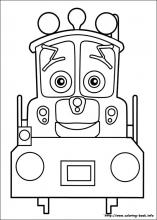 chuggington coloring pages on coloring bookinfo - Chuggington Wilson Coloring Pages