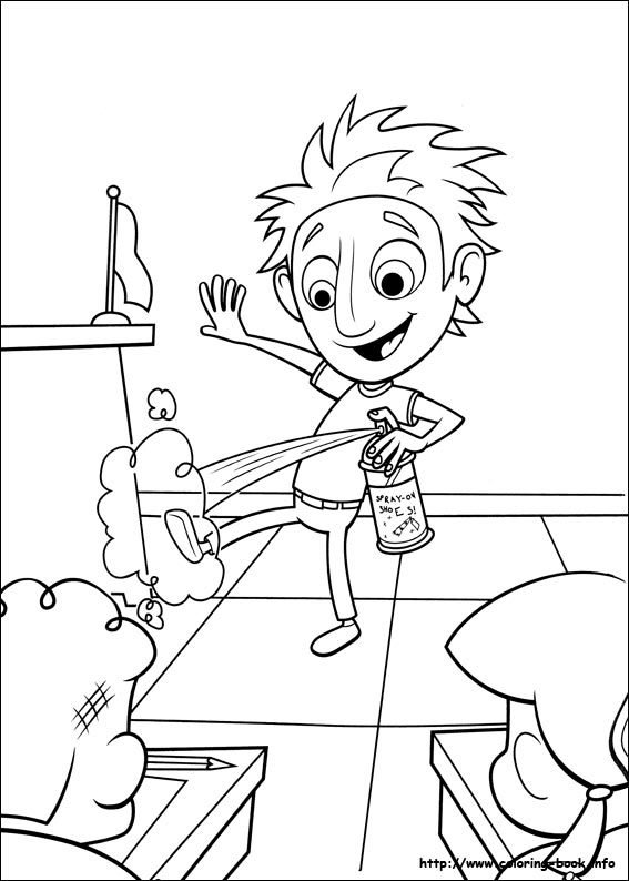 Cloudy with a chance of meatballs coloring pages on Coloring-Book.info