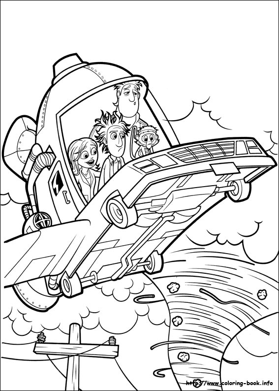 Cloudy with a Chance of Meatballs coloring pages to print