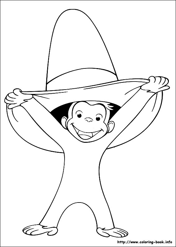 Curious George Coloring Pages On Book