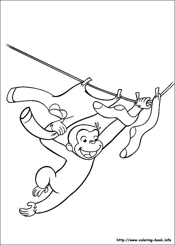 Curious George coloring pages on ColoringBookinfo