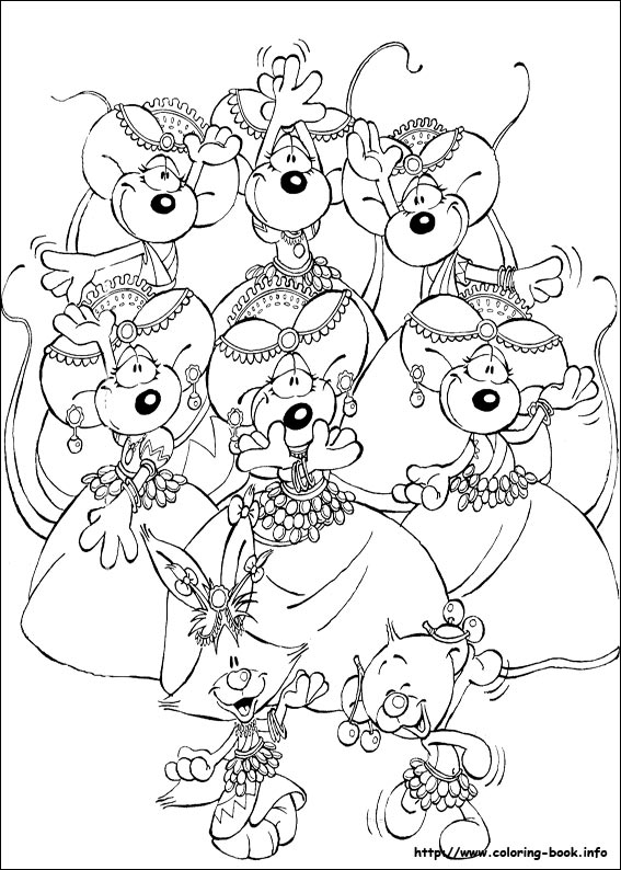 Free printable coloring page depicting the nursery rhyme