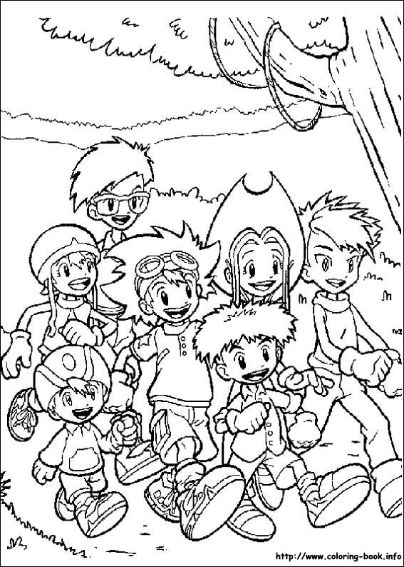 Digimon coloring picture