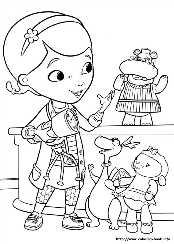Doc McStuffins coloring pages on ColoringBookinfo