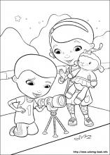 Doc McStuffins medical instruments coloring pages for kids ... | 220x157