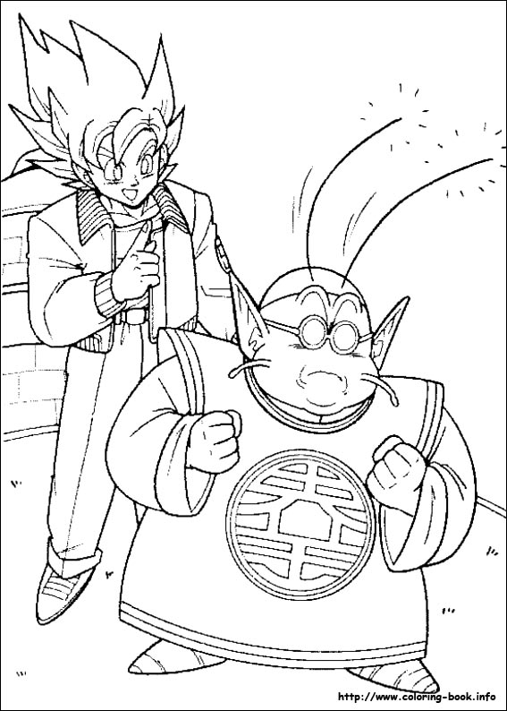 Dragon Ball Z Coloring Pages On Coloringbookinforhcoloringbookinfo: Goku Kaioken Coloring Pages At Baymontmadison.com