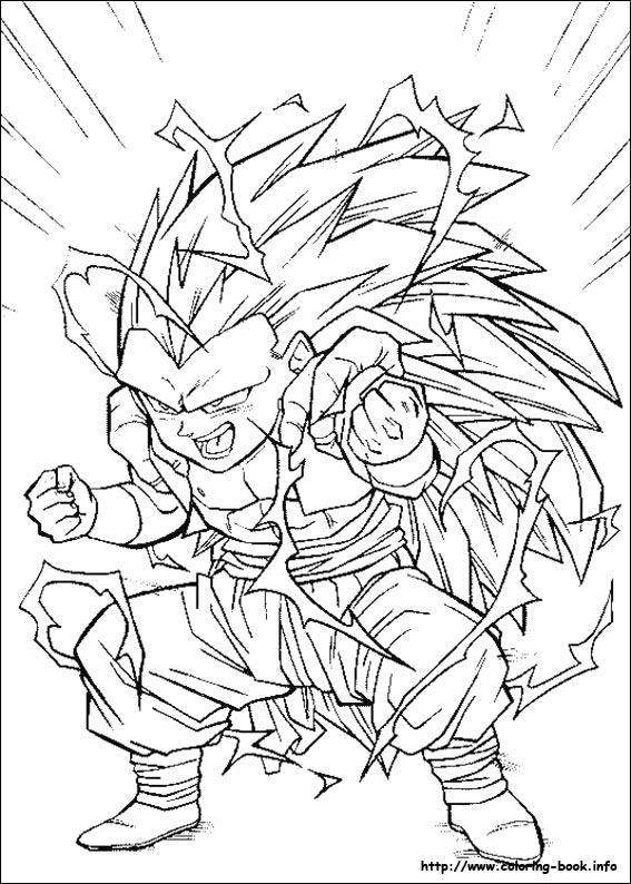 Worksheet. Ball Z coloring picture