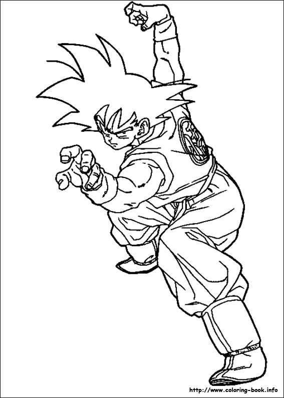 index coloring pages - Dragon Ball Coloring Pages Goku