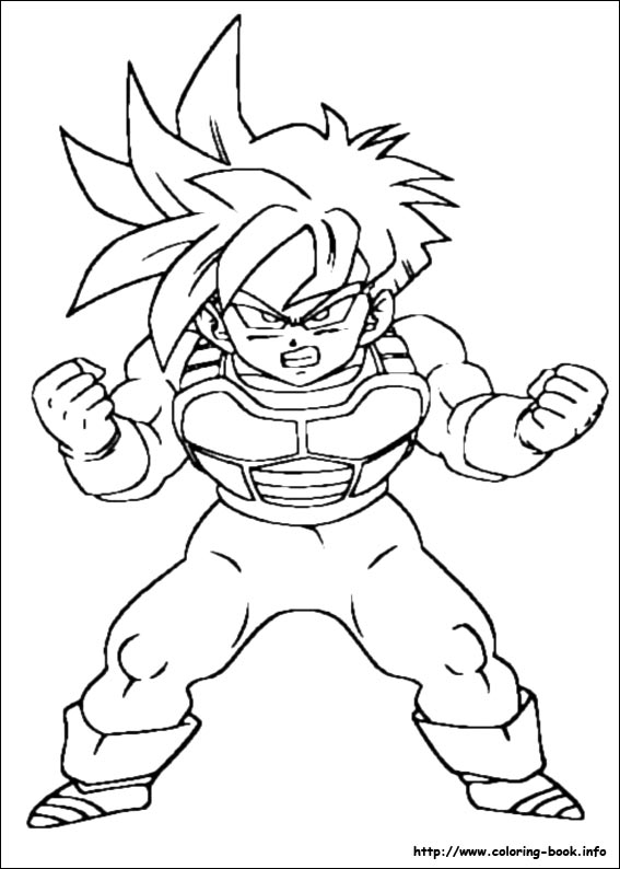 Dragon ball z coloring picture for Dbz coloring pages