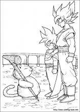 dragon ball z coloring pages on coloring bookinfo - Dragon Ball Goku Coloring Pages