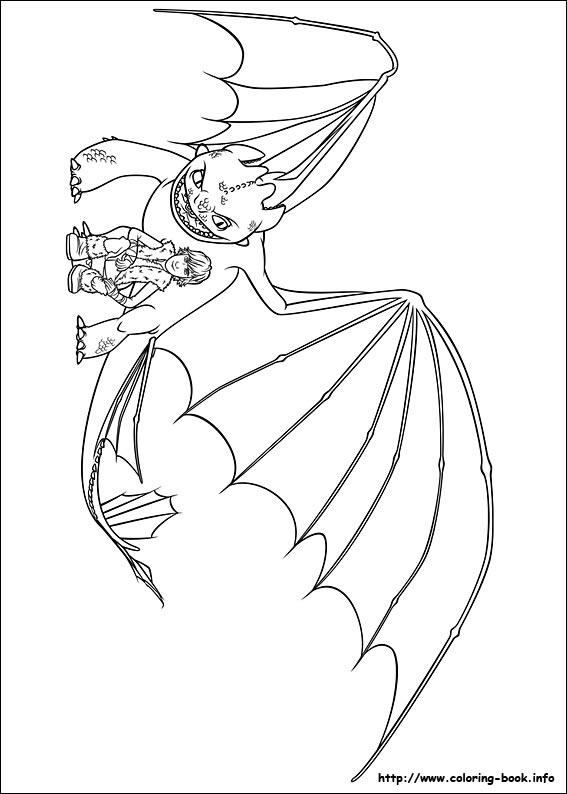 How To Train Your Dragon 2 Coloring Pages Toothless