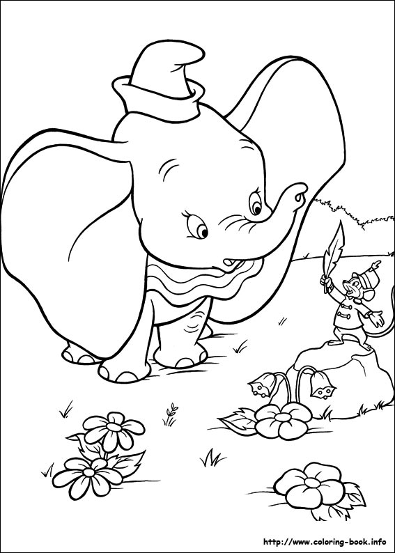 Coloring Picture Dumbo Coloring Pages