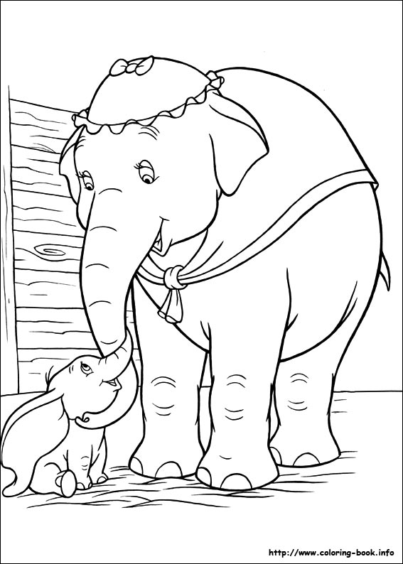 dumbo coloring picture - Dumbo Elephant Coloring Pages