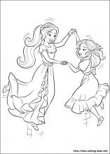 Elena of avalor coloring pages on coloring book info Natalya Coloring Pages Elena of Avalor Printable Cards Natasha Coloring Pages