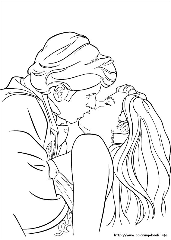 Enchanted coloring picture