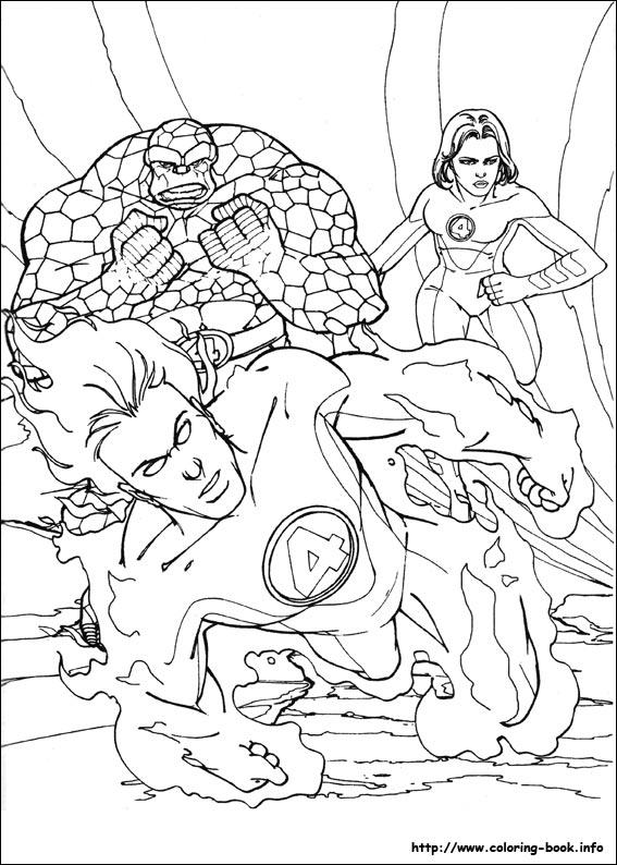 Fantastic four coloring picture