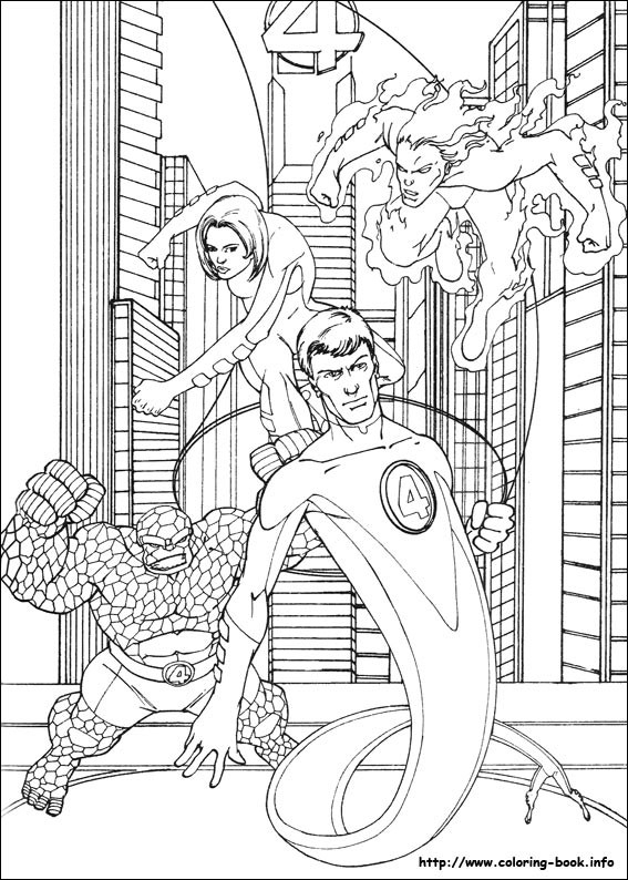Four coloring picture