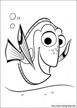 Finding Dory coloring pages on Coloring Bookinfo