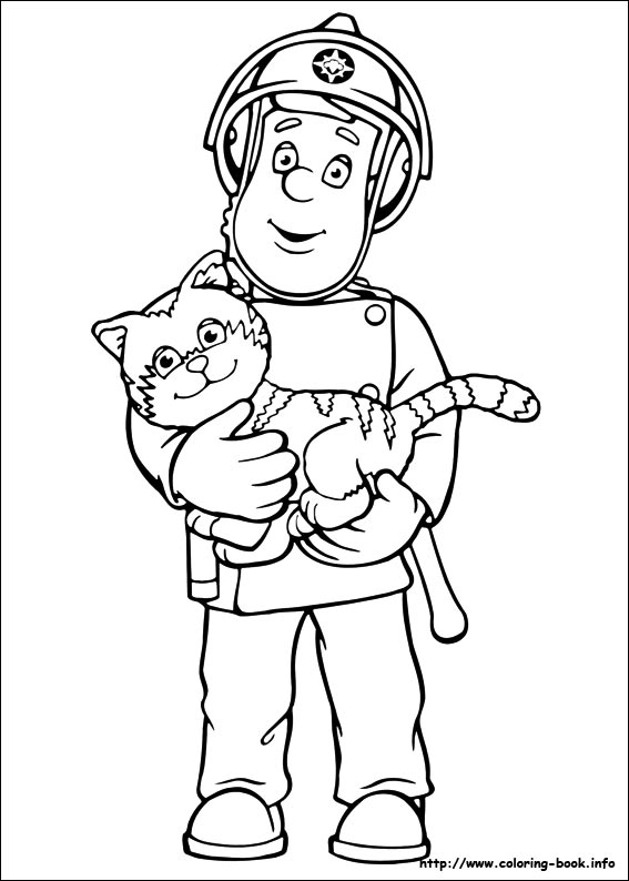 index coloring pages - Firefighter Coloring Pages