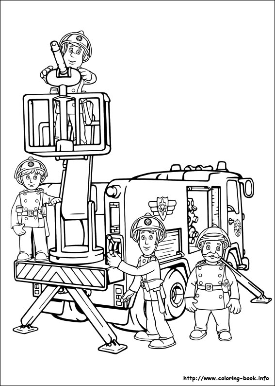 Fireman Sam Coloring Pages On Coloring Book Info